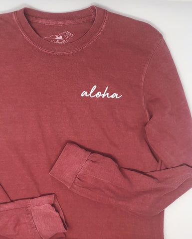 Signature Aloha Long Sleeve in Brick