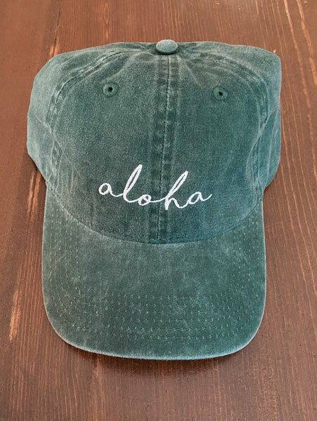 Aloha Hat in Forest Green