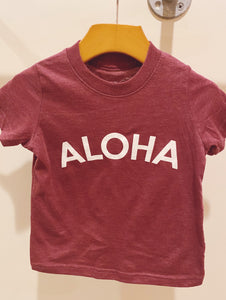 Aloha Arc Kids Tee in Vintage Burgundy