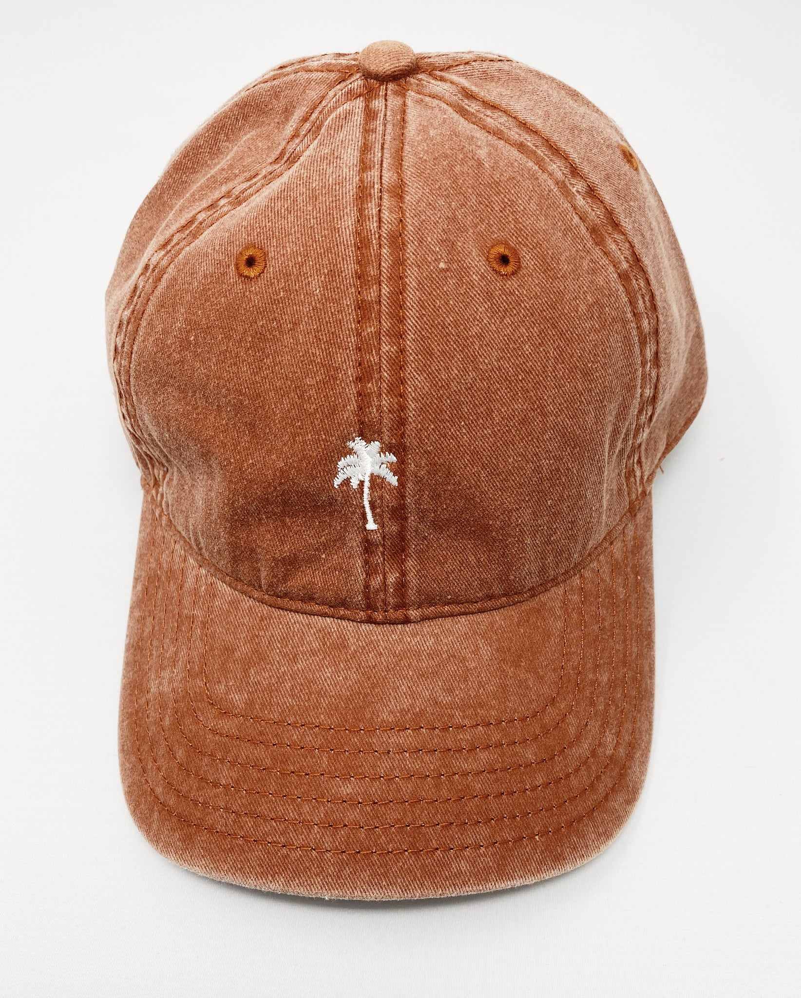 Solo Palm Dad Cap in Rust