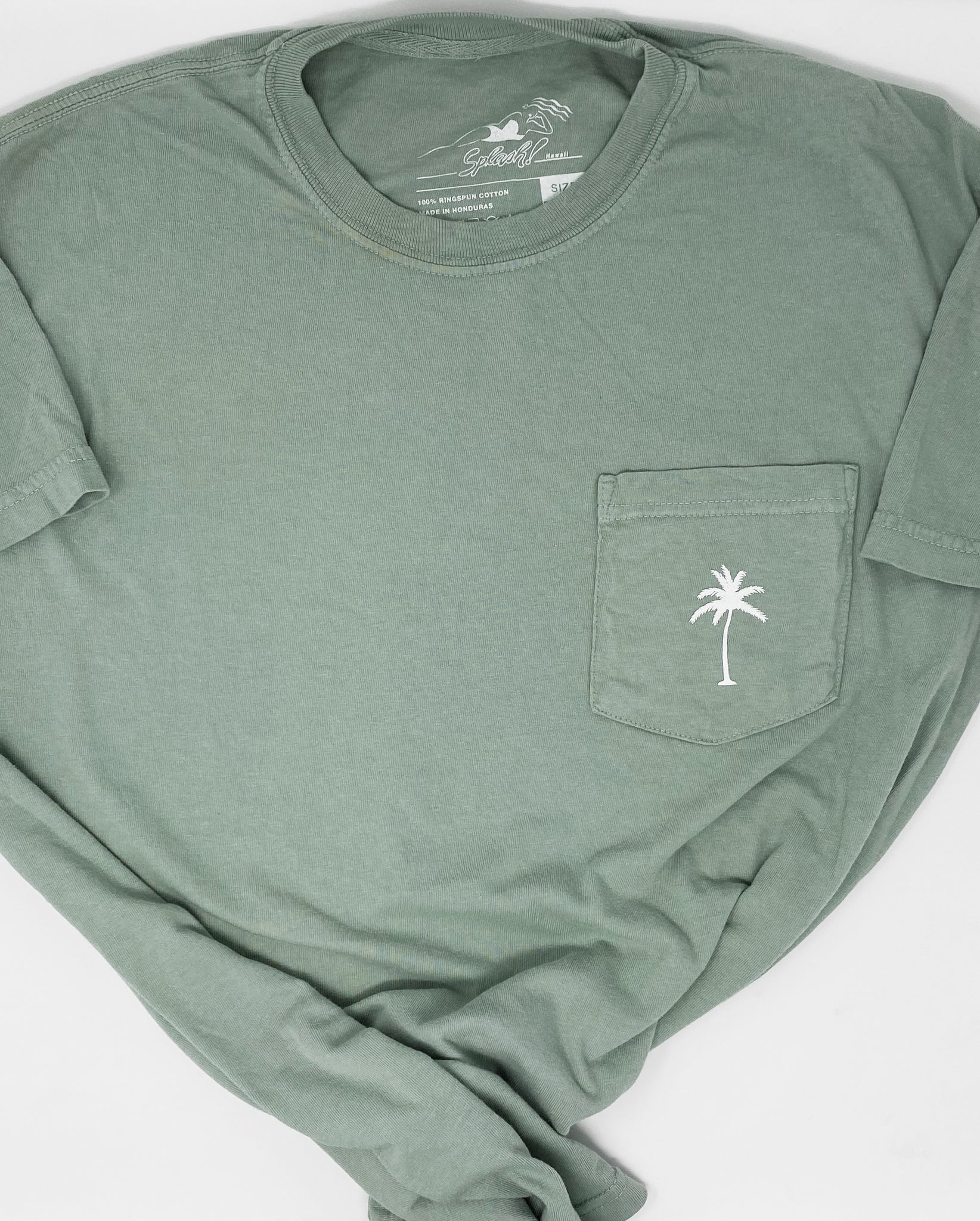 Palm Pocket Tee in Bay