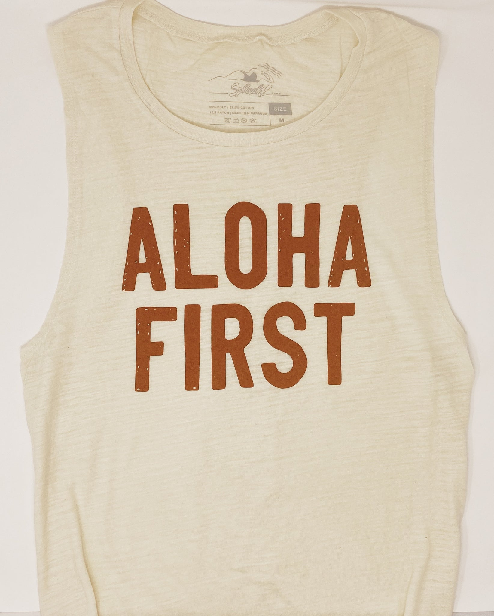 Aloha First Muscle Tank Natural