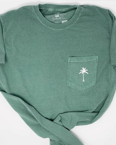 Solo Palm Short Sleeve Tee in Green