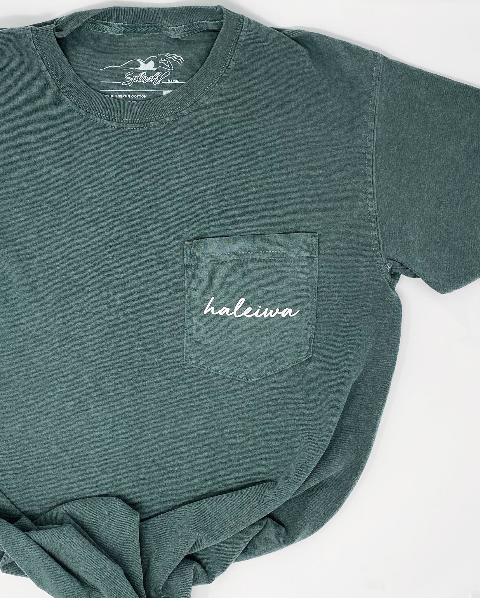 Haleiwa Pocket Tee in Blue Spruce