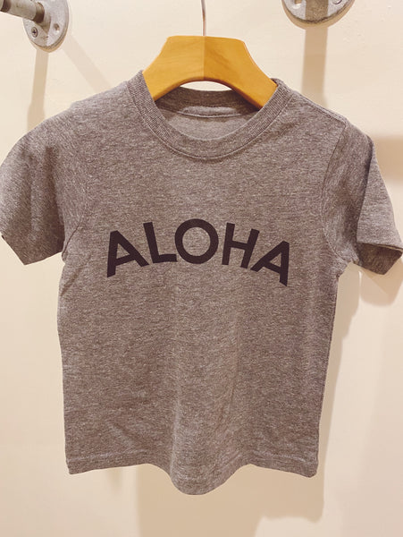 Aloha Arc Kids Tee in Charcoal