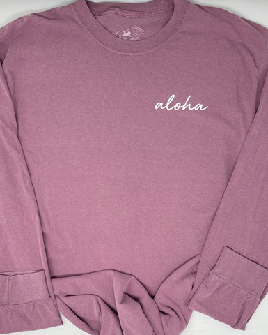 Signature Aloha Long Sleeve in Berry