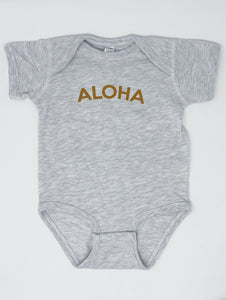 Aloha Onesie in Heather Grey