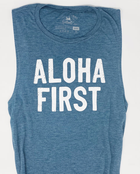 Aloha First Muscle Tank Teal