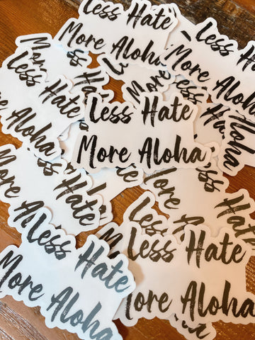 Less Hate Clear Sticker
