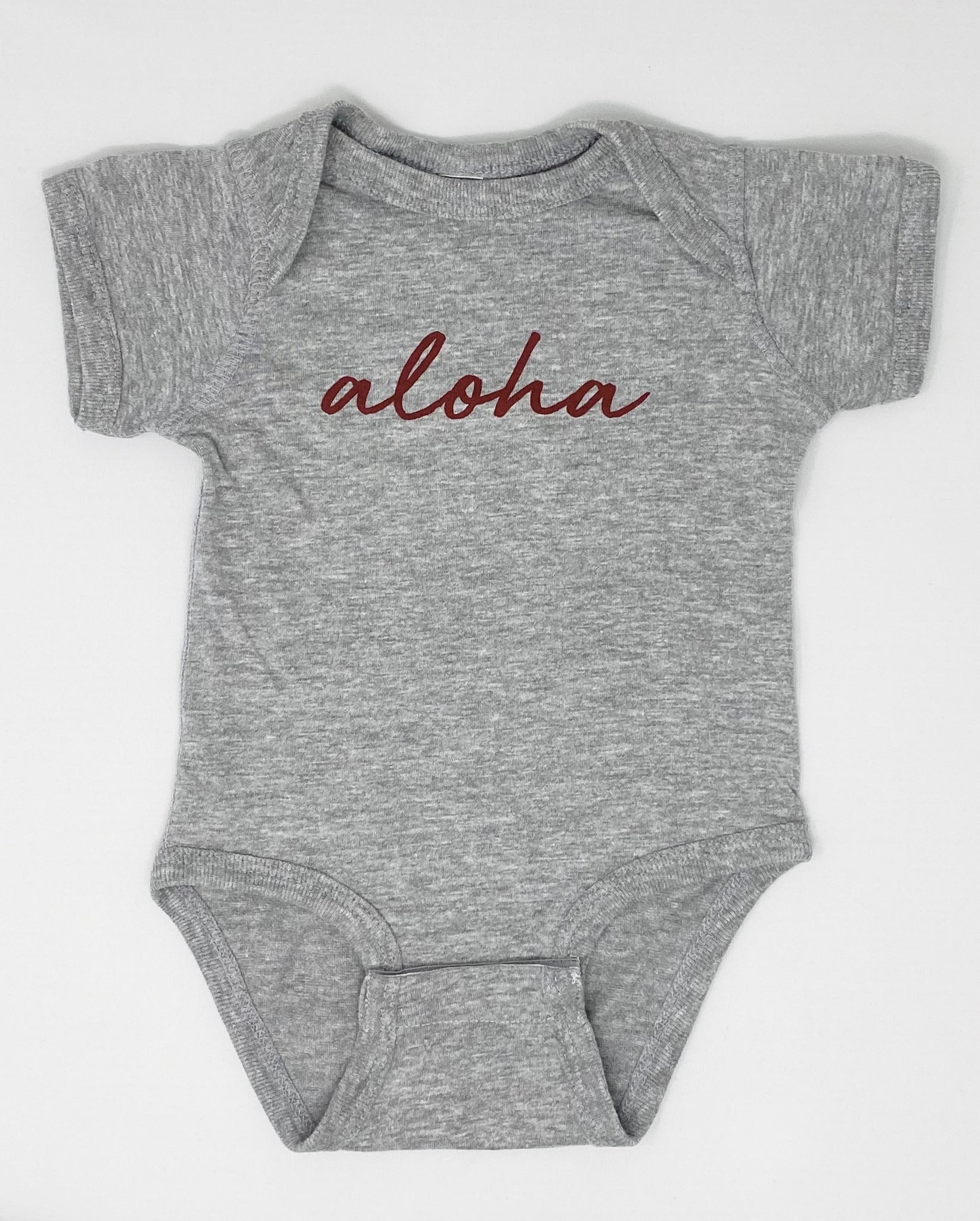Aloha Onesie in Light Heather Grey