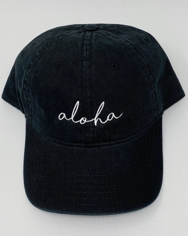 Aloha Hat in Black