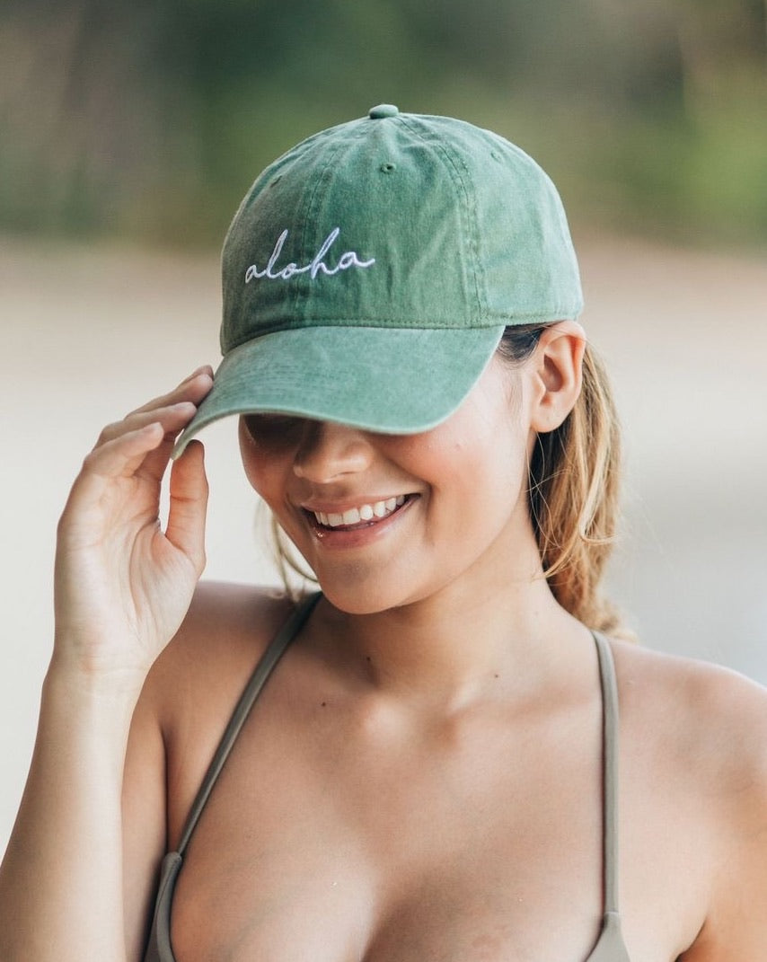 Aloha Hat in Olive