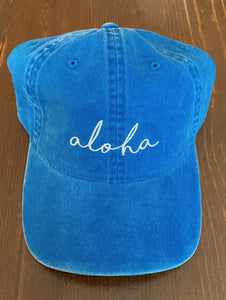 Aloha Hat in Royal Blue