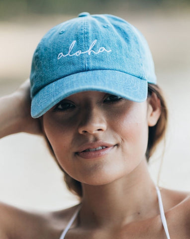 Aloha Hat in Denim
