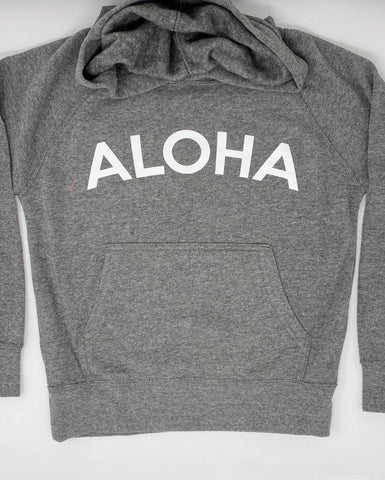 Kids Aloha Hoodie in Heather Grey