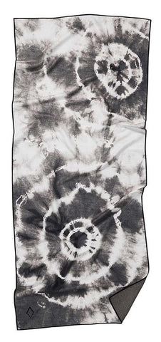 Tie Dye Towel in Black