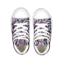 Pink Flower Kids Hightop Canvas Shoe