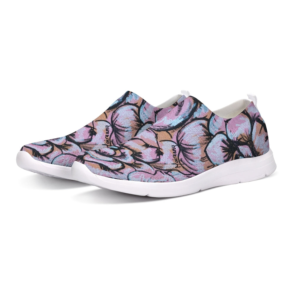 Pink Flower Slip-On Flyknit Shoe