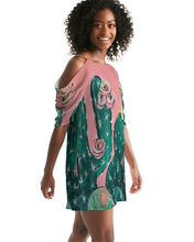 Cactus  Women's Open Shoulder A-Line Dress