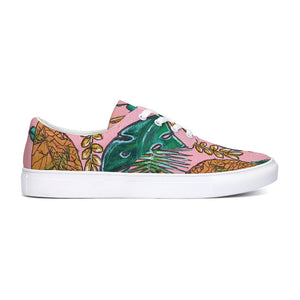 Tropical  Lace Up Canvas Shoe