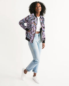 Pink Flower Women's Bomber Jacket