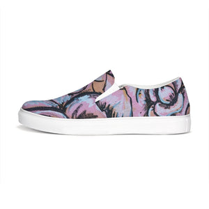 Pink Flower Slip-On Canvas Shoe
