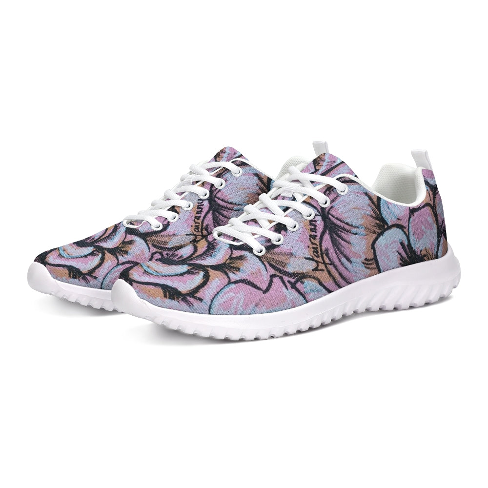 Pink Flower Athletic Shoe