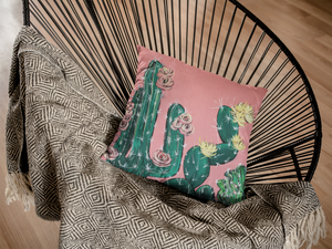 Cactus Square Pillow