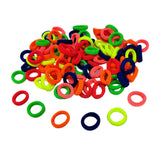 Evogirl Rubber Bands Neon Shade Soft Fabric Ponytailers Elastic Hair Ties Strechable Hair Bands Multicolor, Xtra Small, for Kids/Girls (Pack of 100)