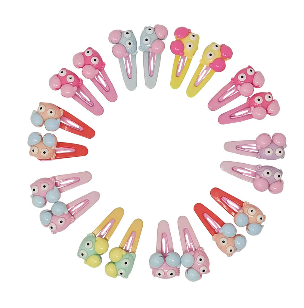 Evogirl Cute & Funky Crab Faces Multicolored Kids Snap Hair Clips, SmallFor Kids/Girls