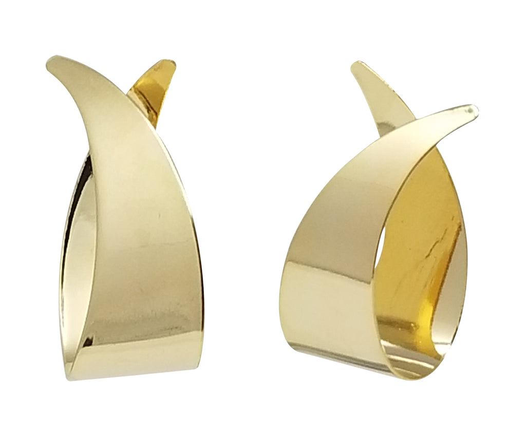 Evogirl Evogirl Cute & Fancy Curved Stylish Shape Gold & Shiny Earings, For Women/rb838