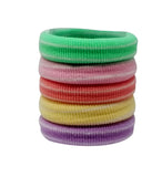 Evogirl Evogirl Rubberband Schooltime Elastic Rubber Band Metal Free Soft Fabric Thick Hair Ties Cool Shades/rb1276