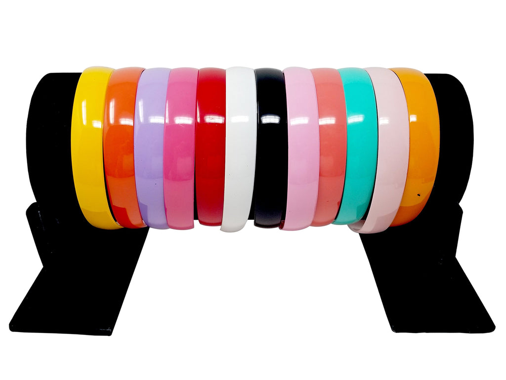 Evogirl Evogirl Hair Band Combo of Rainbow Colors,XL, for Volume, Curly Hair, Head Band (Pack of 12)/rb414