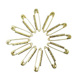 Evogirl Evogirl Safety Pin Rhinestones Premiun Look Saree Lock Pins 2.4cm Golden Dimonds, XS (Pack of 12)/rb1828