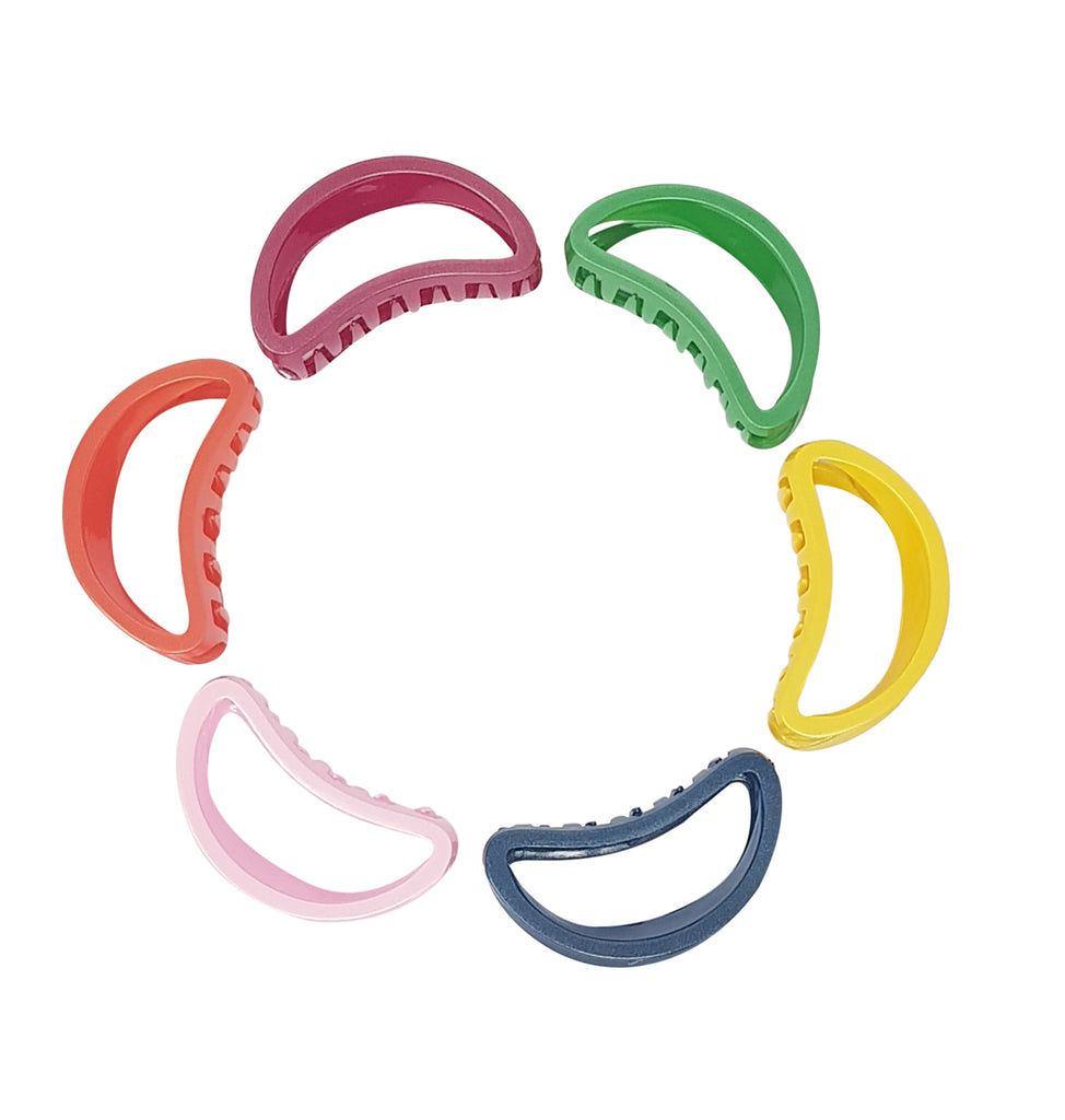 Evogirl Evogirl Claw Clips Half Moon Shape Gliterry Diva Collection Multicolor, Medium, for Women, Girls/rb216