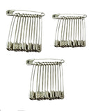 Evogirl Evogirl Safety Pin Metal Saree Pin Lock Pin 4.5cm Silver, Large, for Women/Girls (Pack of 36)/rb1846