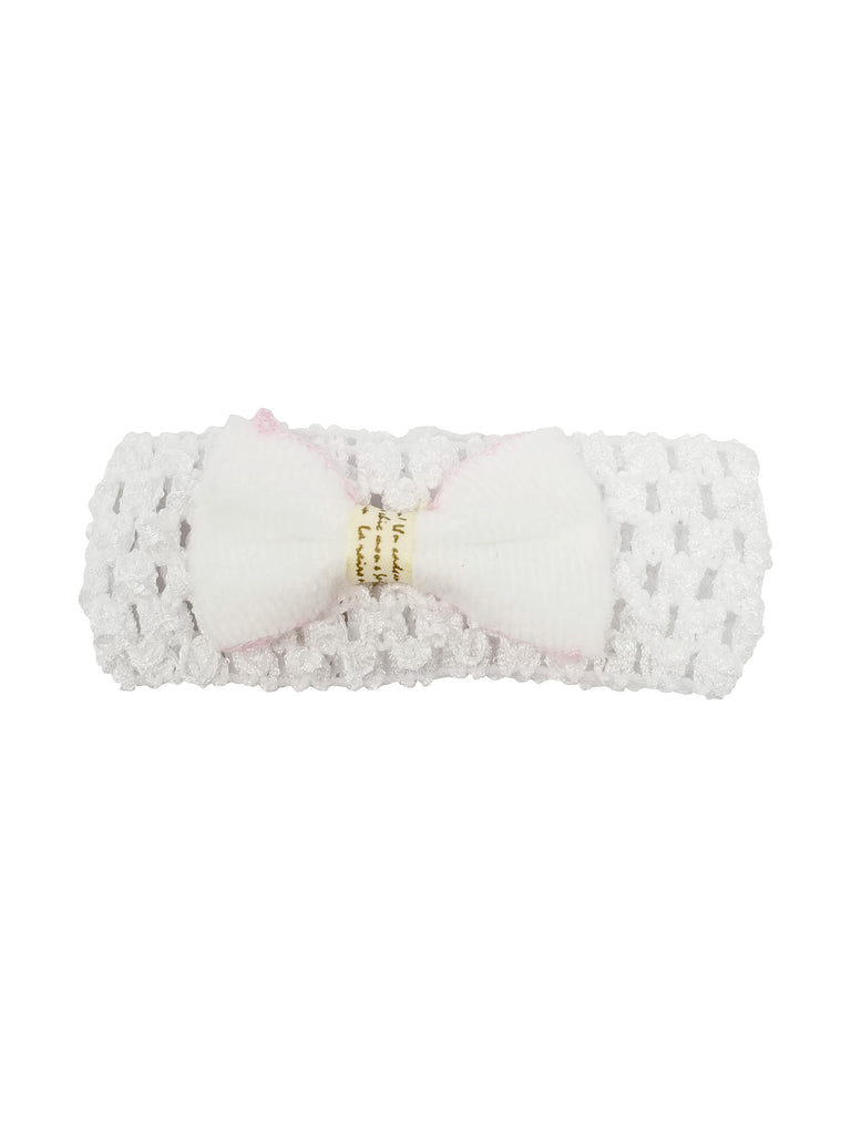 Evogirl Evogirl Head Bands Cute and Fancy Soft Net Band with Bow Birthday Party Fashion Hair Bands White/rb1112