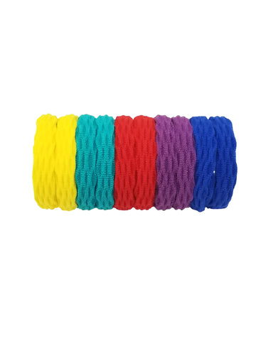 Evogirl Evogirl Rubberbands Thick & Sturdy No Tangle Soft Hair Ties Dark Shade Multicolored,  (Pack of 10)/rb1095