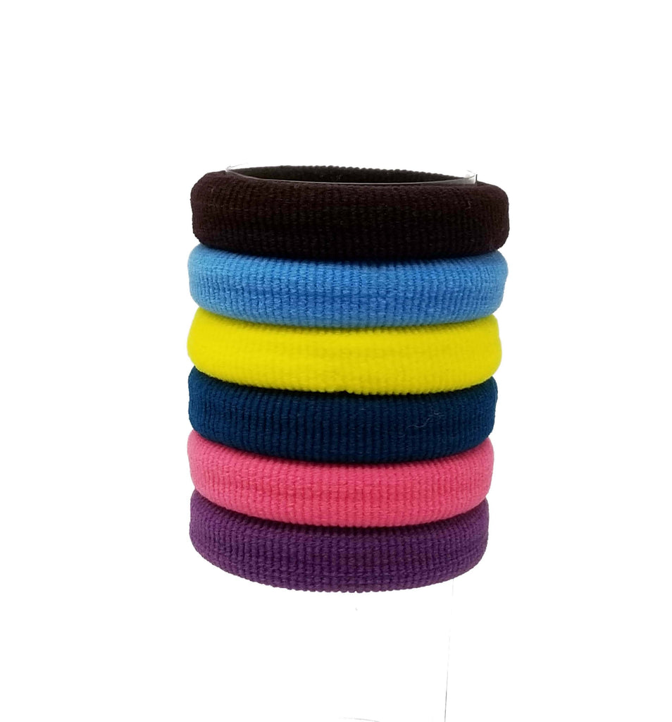 Evogirl Evogirl Rubberband Schooltime Rubber Band Metal Free Soft Fabric Thick Hairties Dark Shades, Large/rb1280