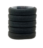 Evogirl Evogirl Rubberband Schooltime Elastic Rubber Band Metal Free Soft Fabric Thick Hair Ties Black/rb1278