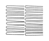 Evogirl Evogirl Juda Pin U Shape Bobby Pins, Metal Hair Barrattes for Bun Maker (Pack of 50)/rb971