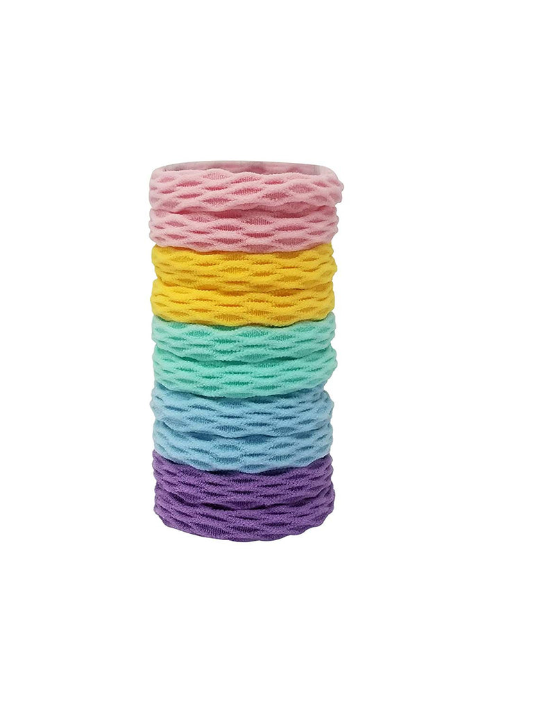 Evogirl Evogirl Rubberbands Thick & Sturdy No Tangle Soft Hair Ties Pastle Shade Multicolored,  (Pack of 10)/rb1097