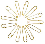 Evogirl Evogirl Safety Pin Metal Gold Plated Seamless Hijab Saree Pin 5cm Golden, Large (Pack of 12)/rb1882