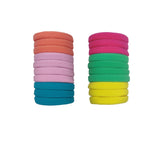 Evogirl Rubber Bands Light Shade Soft Fabric Ponytailers Elastic Hair Ties Strechable Hair Bands Multicolor, Medium, for Women/Girls (Pack of 20)