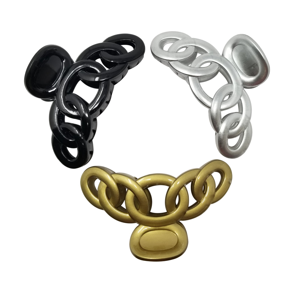Evogirl Evogirl Claw Clip Big Butterfly Rings Shape Cluther N Sip Grip Black, Silver, Golden, XLarge/rb1433