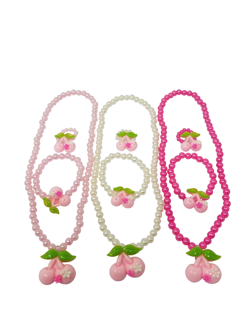 Evogirl Evogirl Necklace with Bracelate & Ring Cherry Kidswear Multicolored Small Size for Girls/rb1562