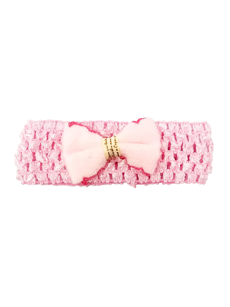 Evogirl Evogirl Head Bands Cute and Fancy Soft Net Band with Bow Birthday Party Fashion Hair Bands BabyPink/rb1111