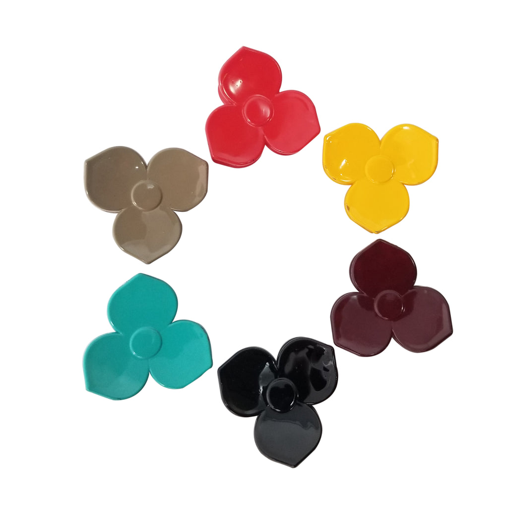 Evogirl Evogirl Claw Clip Trio Petals Beautiful Hair Butterfly No Slip Grip Solid Multicolored, Small/rb1381