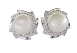 Evogirl Evogirl Earings Pearly Sun Dimond Studded Tops Silver Plated For Women/rb1701