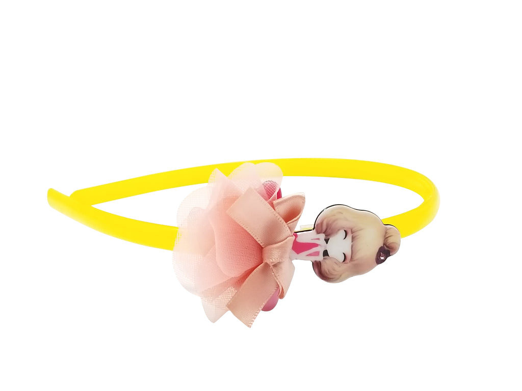 Evogirl Evogirl Head Bands Cute Doll Figure Glossy Hair Band for Party, Casual Wear, Yellow, for Gilrls/Kids/rb1139